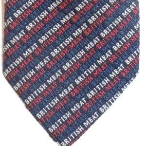 "VTG 60's MOD Tie ""British Meat"" Promo LOGO Funny"